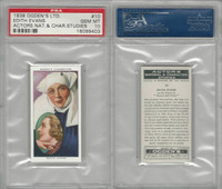 O2-123 Ogdens, Actors Natural & C. Studies, 1938, #10 Edith Evans, PSA 10 Gem