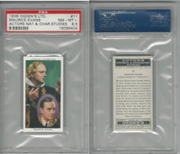 O2-123 Ogdens, Actors Natural & C. Studies, 1938, #11 Maurice Evans PSA 8.5 NMMT