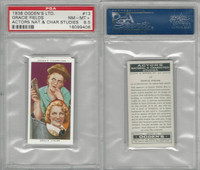 O2-123 Ogdens, Actors Natural & C. Studies, 1938, #13 G. Fields, PSA 8.5 NMMT