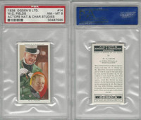 O2-123 Ogdens, Actors Natural & C. Studies, 1938, #14 W.C. Fields, PSA 8 NMMT