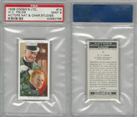 O2-123 Ogdens, Actors Natural & C. Studies, 1938, #14 W.C. Fields, PSA 9 Mint