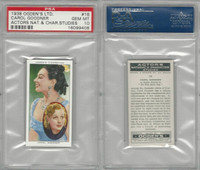 O2-123 Ogdens, Actors Natural & C. Studies, 1938, #16 C. Goodner, PSA 10 Gem