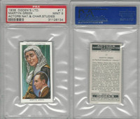 O2-123 Ogdens, Actors Natural & C. Studies, 1938, #17 Martyn Green, PSA 9 Mint