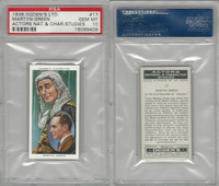 O2-123 Ogdens, Actors Natural & C. Studies, 1938, #17 Martyn Green, PSA 10 Gem