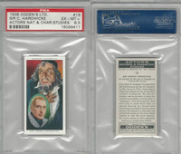 O2-123 Ogdens, Actors Natural & C. Studies, 1938, #19 Hardwicke, PSA 6.5 EXMT+