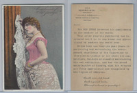 N Card, Old Judge, Goodwin, 1880's, Woman With Red Top & White Dress