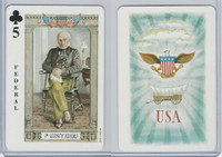 1973 US Games, American Historical Cards, Club 5, President John Quincy Adams