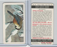FC34-10 Brook Bond, Canadian/Am. Songbirds, 1966, #18 Boreal Chickadee
