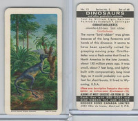FC34-6 Brook Bond, Dinosaurs, 1963, #13 Ornitholestes