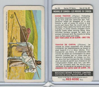 FC34-18 Brook Bond, Indians of Canada, 1974, #30 Horse Travois