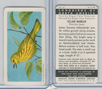 FC34-1 Brook Bond, Songbirds North America, 1959, #16 Yellow Warbler