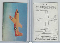 F270-1 Carnation Corn Flakes, Aircraft Recognition, 1952, Bell X-1