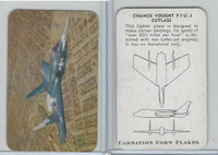 F270-1 Carnation Corn Flakes, Aircraft Recognition, 1952, Chance Vought F7U-1
