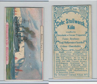 Victorian Card, Stollwerck Chocolate, Ships, Aviso Grief