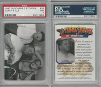1997 Duocards, Three Stooges, #28 Curly's Ills, PSA 7 NM