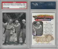 1997 Duocards, Three Stooges, #51 Normandy Productions, PSA 8 NMMT