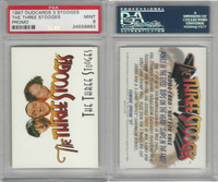 1997 Duocards, Three Stooges, Promo Card, PSA 9 Mint