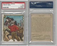 T53 Hassan Cigarettes,  Cowboy Series, 1910, A Buck Hero, PSA 3 MC VG