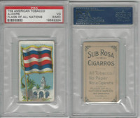 T59 American Tobacco, Flags of all Nations, 1910, Algiers, PSA 3 MC VG