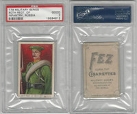 T79 Fez, Lenox, Tolstoi, Military, 1910, 80th Infantry, Russia, PSA 2 Good