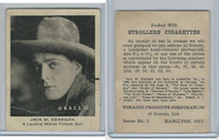 T85 Tobacco Products, Strollers, Movie Stars, 1922, Jack Kerrigan