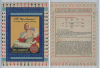 T12 American Tobacco, Lucky Strike, Bridge Game Hands, Miss America 1930, #17