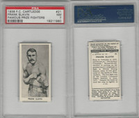 C0-0 Cartledge, Famous Prize Fighters, 1938, #21 Frank Slavin, PSA 7 NM