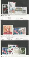 Germany, Postage Stamp, #1957-58, 1960, 62, 1969-70, 1979-80 Mint NH, 1997