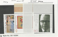 Germany, Postage Stamp, #2045-2047 Mint NH, 1999