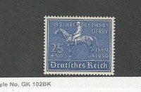 Germany, Postage Stamp, #B144 Mint Hinged, 1939 Horse Racing
