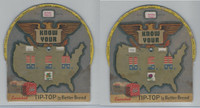 D Card, Tip Top Bread, Know Your USA State Wheel Chart, 1944
