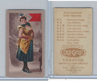 T411 Old Gold Tobacco, International Code Signals, 1910, B