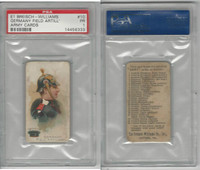 E1 Breisch, Army Cards, 1910, #10 Germany Field Artillery, PSA 1