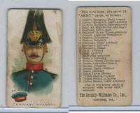 E1 Breisch, Army Cards, 1910, #11 German Infantry