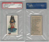 E1 Breisch, Army Cards, 1910, #11 German Infantry, PSA 2 Good