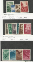 Hungary, Postage Stamp, #B140-3, B151-6, B166-9 Mint NH & LH, 1942-43