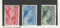 Hungary, Postage Stamp, #C36, C38, C41 Mint LH, 1936 Airplane