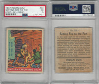 R773 Goudey, Indian Gum, 1947, #33 Setting Fire To The Fort, PSA 5 EX