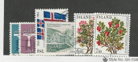 Iceland, Postage Stamp, #588-589, 591-594 Used, 594 Mint NH, 1984