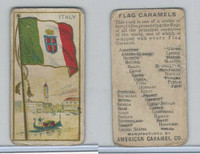 E15 American Caramel, Flag Caramels, 1910, Italy