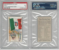 E16 Dockman & Son, Flag Chewing Gum, 1920's, Italy, PSA 5 EX