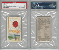 E16 Dockman & Son, Flag Chewing Gum, 1920's, Japan, PSA 5 EX