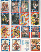 1991 Topps, American Gladiators, Complete Set of 88 Cards & 11 Stickers