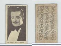 T85-1 Tobacco Products Corp, Movie Stars, 1922, #28 Marc McDermott
