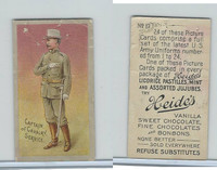E170 Heides Candies, U.S. Army Uniforms, 1920's, #17 Captain of Cavalry Service