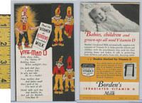 D Card, Borden's Milk, 1940, Sunny D Fold-Out Card