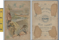 Victorian Card, 1890's, Clark's Thread, Lookout Mountain