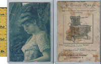 Victorian Card, 1890's, Co-operative Foundry, Rochester NY, Stove, Lady