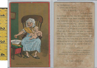 Victorian Card, 1890's, Cragin, Philadelphia, Dobbins Soap, At First The Infant