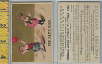 Victorian Card, 1890's, Days Soap, Philadelphia, Girls With Balloon